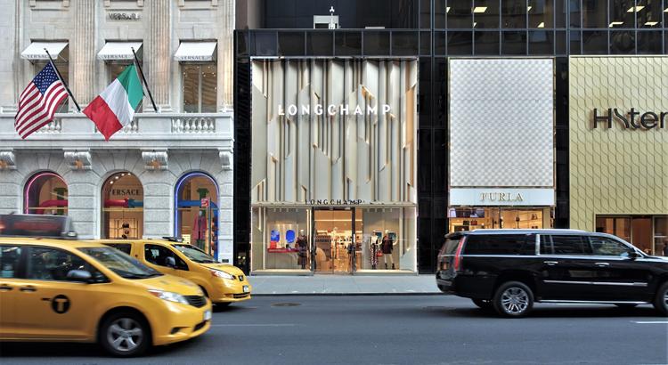Façade du magasin Longchamp, 5th Avenue, New York